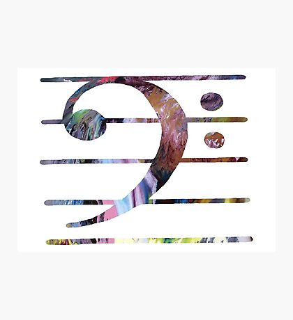 Bass clef Photographic Print