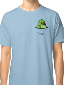 Too Many Birds! - Green Indian Ringneck Classic T-Shirt