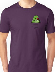 Too Many Birds! - Green Indian Ringneck Unisex T-Shirt