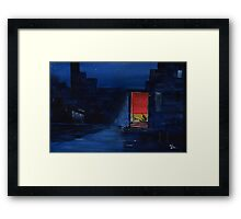 Red Curtain Framed Print