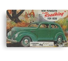 me peterson designs | all i want is a 1939 roadking! Canvas Print