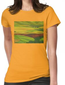 Red barn - acrylic on board Womens Fitted T-Shirt