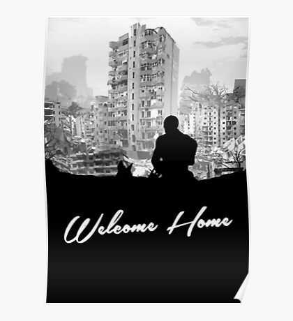 Minimal Silhouette Poster Design - 'Welcome Home' Poster