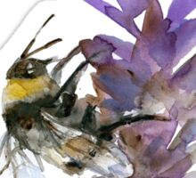 Bee on lavender watercolor Sticker