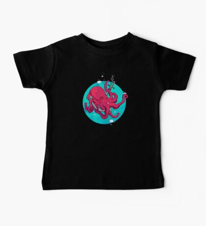 Octopus and Anchor Baby Tee