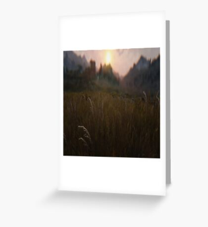 All about the grass Greeting Card