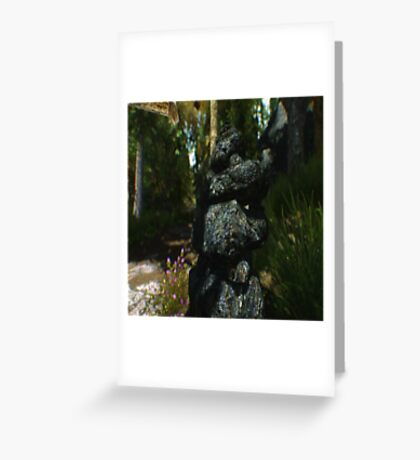 Stacked Rocks Greeting Card