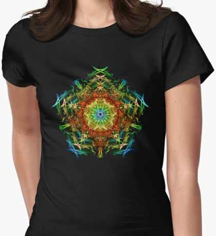 Energetic Geometry-   Multidimensional Power Star Energy Womens Fitted T-Shirt