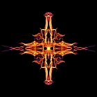 Energetic Geometry-  Abstract Sigil Symbol for Fortitude  by Leah McNeir