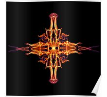 Energetic Geometry-  Abstract Sigil Symbol for Fortitude  Poster