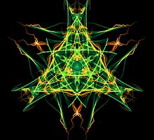Energetic Geometry-  Abstract Pentacle Symbol for Earthen Connection by Leah McNeir