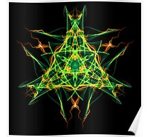 Energetic Geometry-  Abstract Pentacle Symbol for Earthen Connection Poster