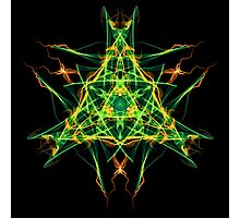 Energetic Geometry-  Abstract Pentacle Symbol for Earthen Connection Photographic Print