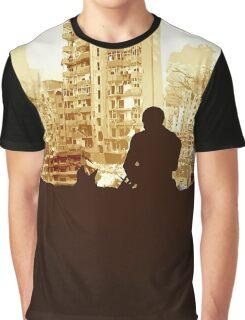 Minimal Silhouette Poster Design Apocalypse Gaming Graphic T-Shirt
