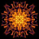Energetic Geometry - Abstract Solar Power Symbol by Leah McNeir