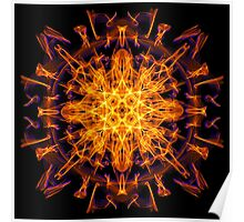 Energetic Geometry - Abstract Solar Power Symbol Poster