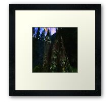 Ominous Statue in the woods Framed Print