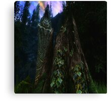 Ominous Statue in the woods Canvas Print