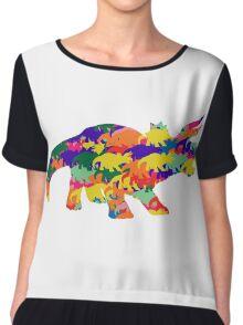Triceratops Chiffon Top