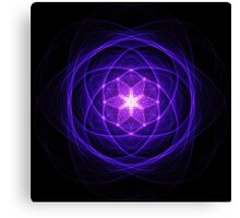 Energetic Geometry - Indigo Prayers Canvas Print