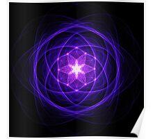 Energetic Geometry - Indigo Prayers Poster