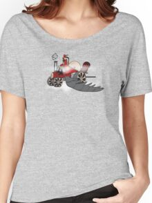 Igidious and his steam powered flying locomotive Women's Relaxed Fit T-Shirt