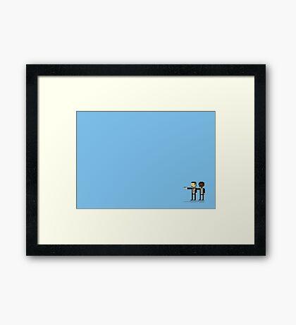 Pixel Fiction Framed Print