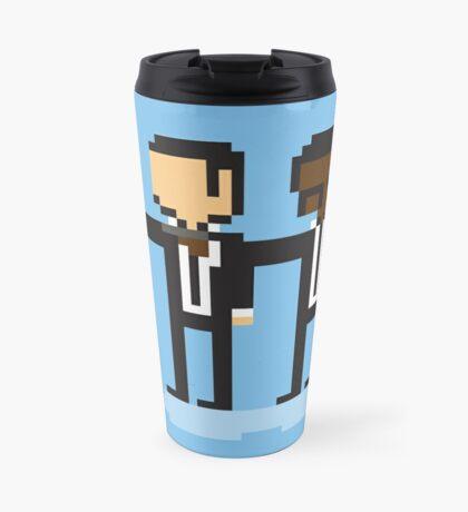 Pixel Fiction Travel Mug