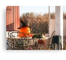 Sylvester and the Jack-o-Lantern Canvas Print