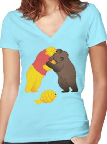 Battle for resources Women's Fitted V-Neck T-Shirt
