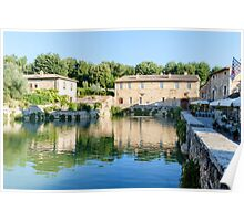 Hot springs, Bagno Vignoni, Val d'Orcia, Tuscany, Italy Poster