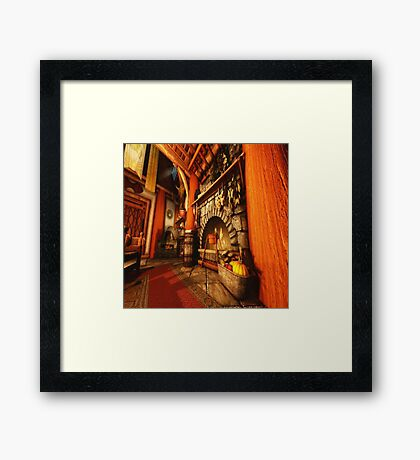 Back at the Homestead Framed Print