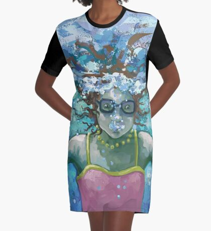 Under Water Graphic T-Shirt Dress