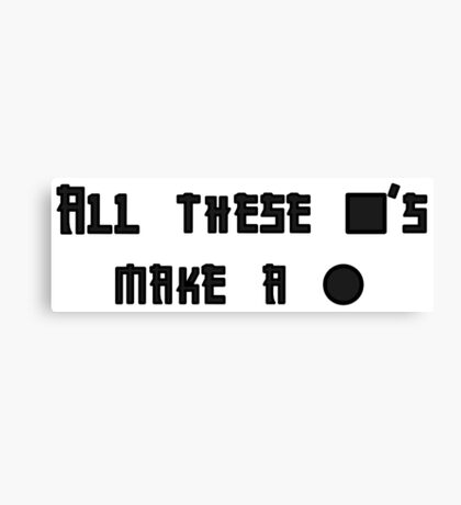 All these square's make a circle Canvas Print