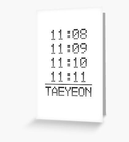 SNSD Taeyeon 11:11 Greeting Card
