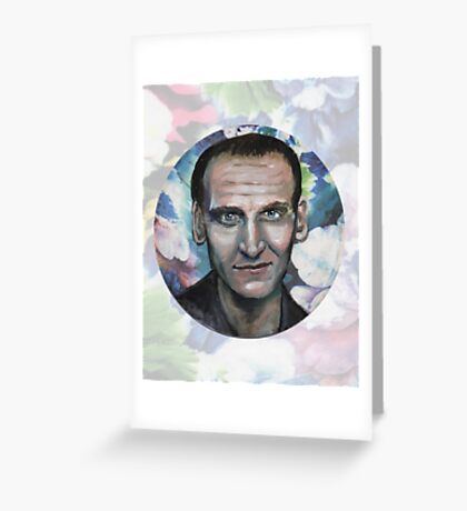 Doctor Who, The Floral Ninth Doctor Greeting Card