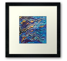 Abstract blue waves Framed Print