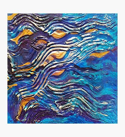 Abstract blue waves Photographic Print