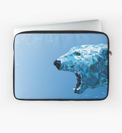 Ice bear polygon design Laptop Sleeve