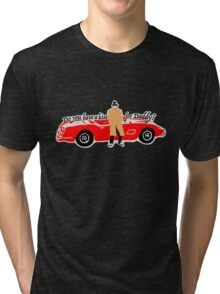 Do you have a kiss for daddy? Tri-blend T-Shirt