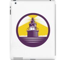 Lighthouse Circle Woodcut iPad Case/Skin