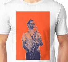 Romantic saxophone performer. Drawing of Street Musician. Illustration Unisex T-Shirt