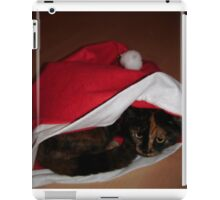 It's a cat in a Santa Hat iPad Case/Skin