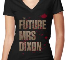 The Future Mrs Dixon Women's Fitted V-Neck T-Shirt