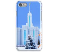 Mt. Timpanogos Temple Early Snow 20x30 iPhone Case/Skin