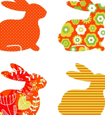 Easter abstract bunny collection Sticker