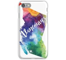 British Columbia Watercolor Map - Vancouver Hand Lettering - Giclee Print of Original Art iPhone Case/Skin