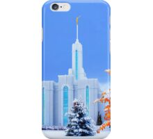 Mt. Timpanogos Temple Early Snow 20x24 iPhone Case/Skin