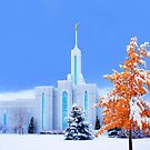 Mt. Timpanogos Temple Early Snow 20x24 by Ken Fortie