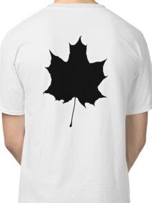 Maple leaf, Silhouette, Black Classic T-Shirt